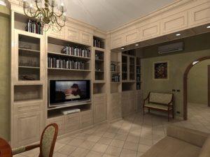 Arredi su misura per una sala hobby in stile rustico for Sala arredamento