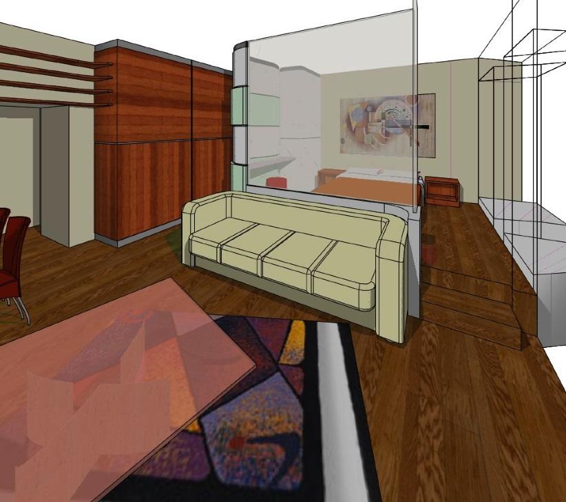 Proposta di ristrutturazione e nuovo arredo per un mini alloggio arch f previtali arredi e - Ristrutturazione mobili legno ...