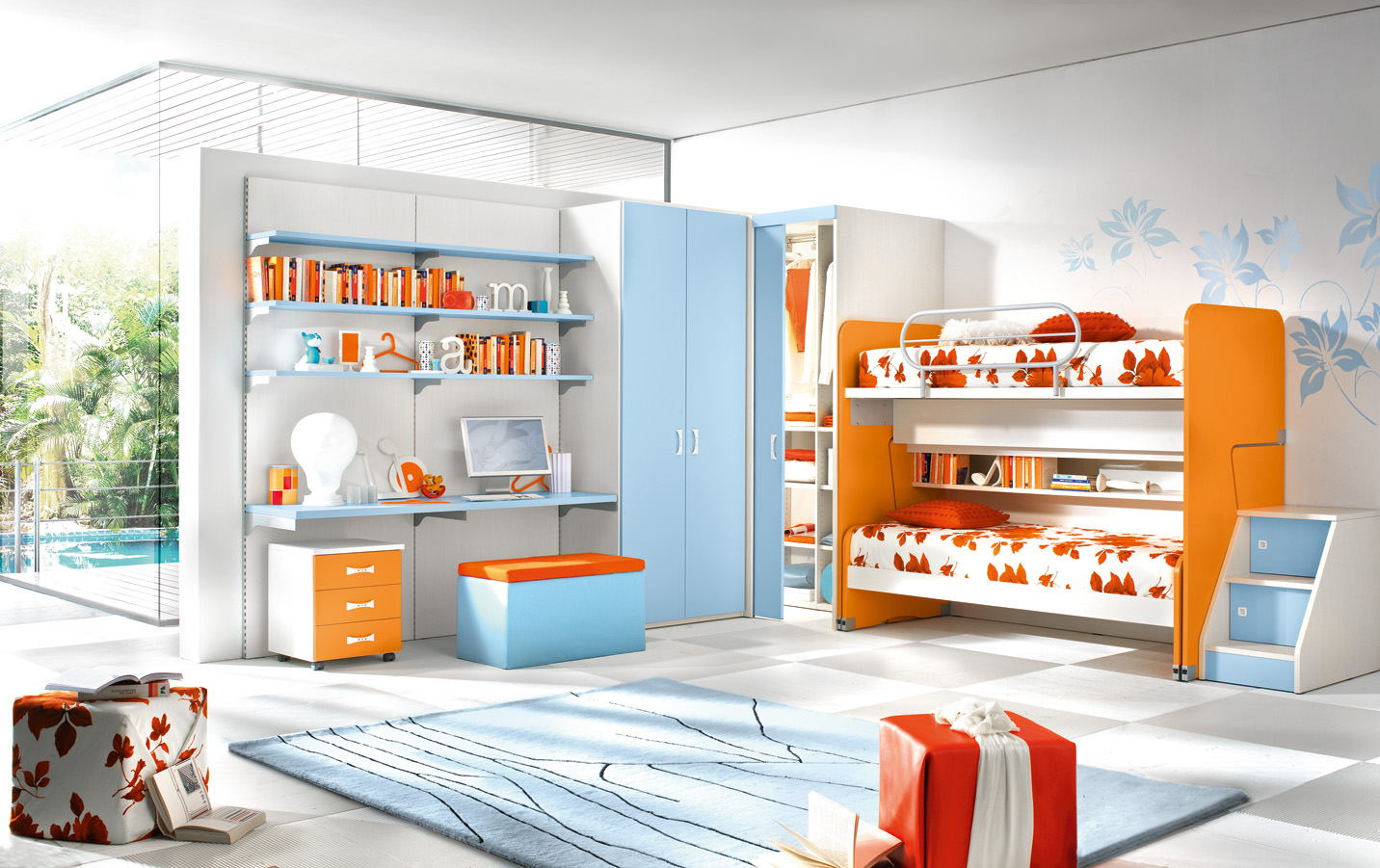 Cabina armadio per cameretta pi ordine nella stanza dei - Childrens small bedroom furniture solutions ...