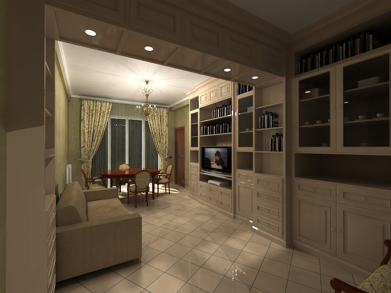 Arredamento classico per soggiorno