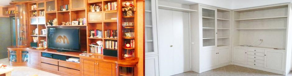 Librerie su misura a roma laccature e verniciature for Librerie economiche on line