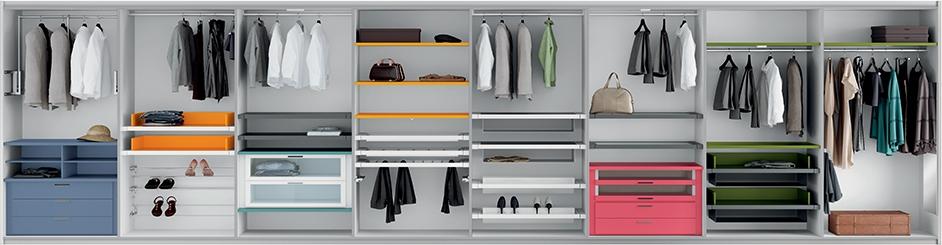 Come organizzare l 39 interno di un armadio su misura - Cassettiera interno armadio ...
