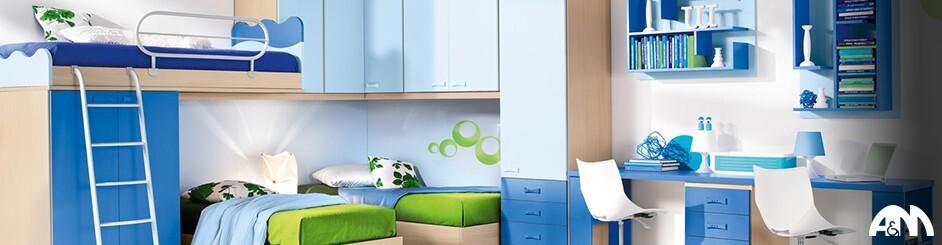 Camerette per bambini roma su misura e colorate arredi for Arredamenti per bambini