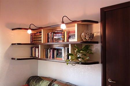 Librerie su misura a roma laccature e verniciature ecologiche arredi e mobili - Mensole sopra il letto ...
