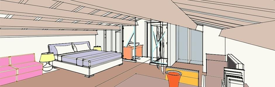 progetto-camera-da-letto-in-mansarda.jpg - Progettazione Camera Da Letto